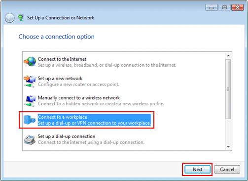 connect to a workplace in windows 7 win7